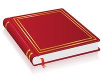Livro vermelho com ilustração do vetor do marcador ilustração stock