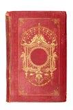 Livro vermelho do vintage velho decorado com ouro Foto de Stock