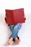 Livro vermelho grande Imagens de Stock Royalty Free