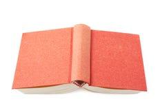 Livro vermelho isolado fotografia de stock