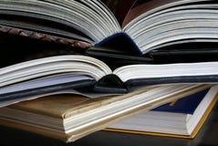 Livros abertos Imagens de Stock