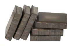 Livros amados poço que inclinam-se e empilhados Imagem de Stock Royalty Free