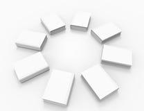 Livros brancos Imagem de Stock Royalty Free