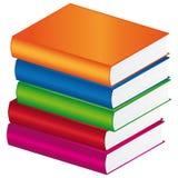 Livros coloridos ilustração stock