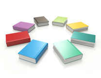 Livros coloridos ilustração do vetor