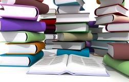 Livros coloridos Fotografia de Stock Royalty Free