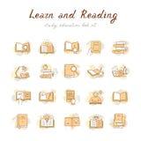 Livros coloridos ajustados no estilo liso do projeto isolado no fundo branco, ilustração do vetor ilustração royalty free
