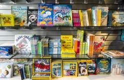 Livros coloridos da lembrança Fotografia de Stock
