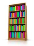 Livros coloridos na biblioteca Fotografia de Stock Royalty Free