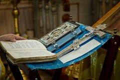 Livros cristãos Fotografia de Stock