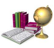 livros 3d e globo Foto de Stock