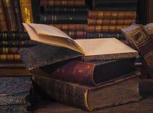 Livros 7 da antiguidade Fotografia de Stock Royalty Free