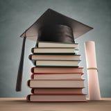 Livros da graduação Fotografia de Stock Royalty Free