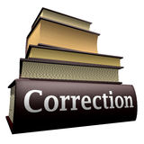 Livros da instrução - correção Foto de Stock