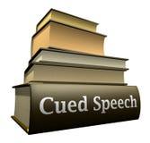 Livros da instrução - discurso cued Foto de Stock