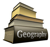 Livros da instrução - geografia Fotos de Stock Royalty Free