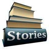 Livros da instrução - histórias Foto de Stock