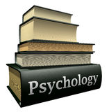 Livros da instrução - psicologia ilustração do vetor