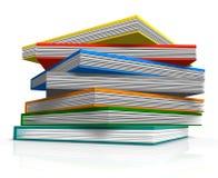 Livros da perspectiva Imagens de Stock