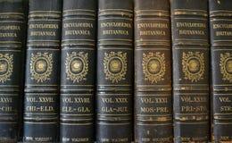 Livros das enciclopédias/referência fotografia de stock