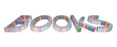 LIVROS das letras por livros Imagens de Stock Royalty Free