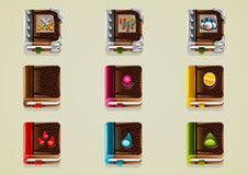 Livros de jogo da fantasia Imagem de Stock