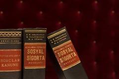 Livros de lei velhos imagem de stock