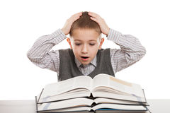 Livros de leitura da criança Imagem de Stock Royalty Free