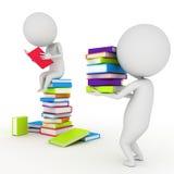 Livros de leitura pequenos do indivíduo Imagem de Stock Royalty Free