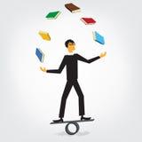 Livros de mnanipulação do homem ilustração stock
