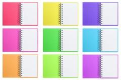 Livros de nota em branco abertos isolados Imagem de Stock