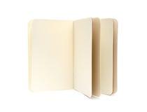 Livros de nota vazios abertos - textura macia das páginas Imagens de Stock Royalty Free