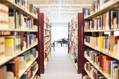 Livros de texto e instrução - corredor Fotos de Stock Royalty Free