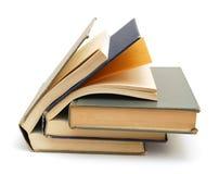 Livros de texto envelhecidos fotografia de stock