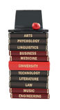 Livros de texto sujeitos da universidade Imagens de Stock Royalty Free