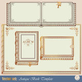 Livros do antiquarian dos moldes Imagem de Stock Royalty Free