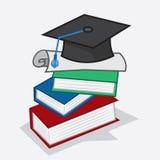 Livros do diploma Foto de Stock