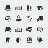 Livros do vetor e ícones da leitura ajustados Imagem de Stock Royalty Free