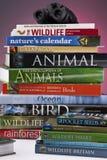 Livros dos animais selvagens & da natureza fotos de stock