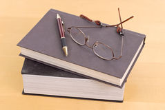 Livros dos professores Foto de Stock