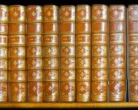 Livros dourados Imagens de Stock