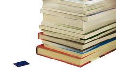 Livros e cartão instantâneo Fotografia de Stock Royalty Free