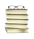 Livros e eyeglasses Imagem de Stock Royalty Free