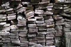Livros e tijolos das pedras Foto de Stock Royalty Free