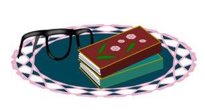 Livros e vidros Fotografia de Stock Royalty Free