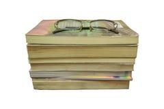 Livros e vidros Imagens de Stock
