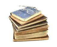 Livros e vidros de leitura antigos Imagens de Stock