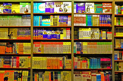 Livros em prateleiras Fotografia de Stock Royalty Free