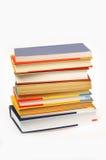 Livros em um fundo branco Foto de Stock Royalty Free