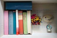 Livros em um tronco Fotografia de Stock Royalty Free